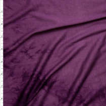 Plum on Plum Tie Dye Rayon Jersey Fabric By The Yard