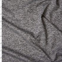 Charcoal Heather Athletic Single Brushed Poly/Spandex Fabric By The Yard