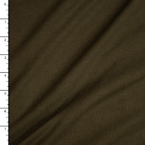 Dark Olive Midweight Stretch Jersey Knit Fabric By The Yard