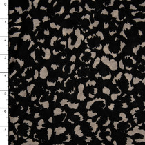 Black and Ivory Cheetah Print Lightweight Stretch Jersey Knit Fabric By The Yard