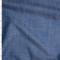 Textured Blue Light Midweight Tencel Denim Fabric By The Yard