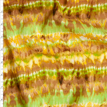 'Safari' Tie Dye Stripe Rayon Challis Fabric By The Yard