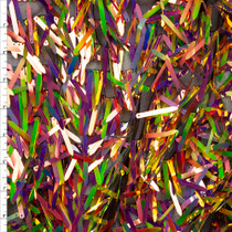 'Oil Slick' Iridescent Fringe Sequin Fabric Fabric By The Yard