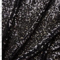 Black Micro Sequin Fabric Fabric By The Yard