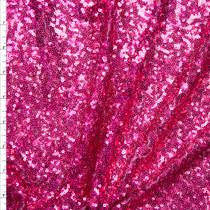 Hot Pink Micro Sequin Fabric Fabric By The Yard