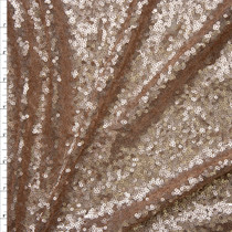 Matte Champaign Micro Sequin Fabric Fabric By The Yard