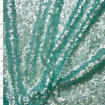 Matte Mint Green Micro Sequin Fabric Fabric By The Yard