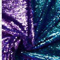 Lilac and Aqua Reversible Sequin Fabric Fabric By The Yard