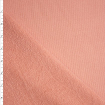 Peach Heavyweight Cotton French Terry Fabric By The Yard