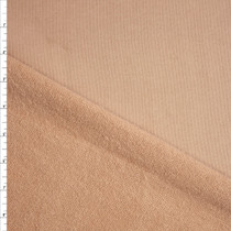 Tan Heavyweight Cotton French Terry Fabric By The Yard