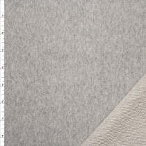 Silver Dusted Heather Grey Cotton French Terry Fabric By The Yard