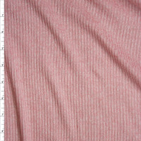 Pink Heather Ribbed Knit Fabric By The Yard