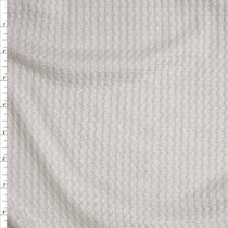 Warm White Soft Waffle Knit Fabric By The Yard