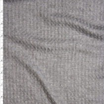 Heather Grey Soft Waffle Knit Fabric By The Yard