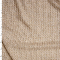 Oatmeal Brushed Soft Waffle Knit Fabric By The Yard