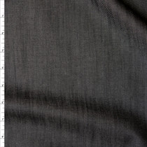 Black Midweight Tencel Denim Fabric By The Yard
