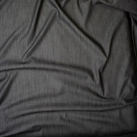 Black Midweight Tencel Denim Fabric By The Yard - Wide shot