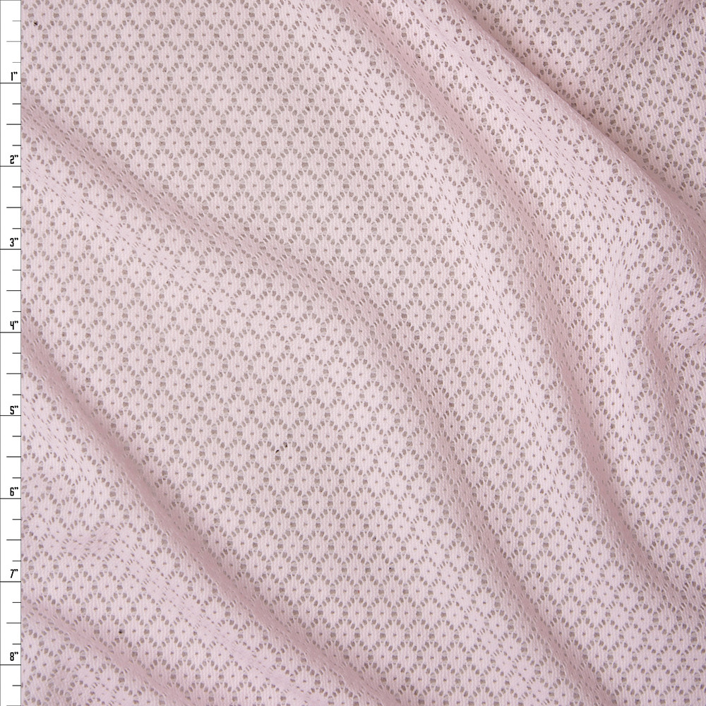 Pink Floral Pattern Stretch Lace Fabric By The Yard