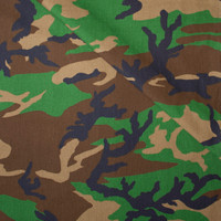 Camouflage Bottomweight Cotton Poplin Fabric By The Yard - Wide shot