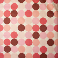 Large Dots in Shades of Pink on Offwhite Midweight Canvas Print Fabric By The Yard - Wide shot