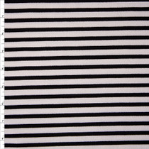 Black and White Pencil Stripe Liverpool Knit Fabric By The Yard