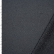 Dark Charcoal Heavyweight French Terry Fabric By The Yard