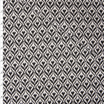 Black and Offwhite Diamond Pattern Stretch Midweight Suiting Fabric By The Yard