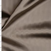 Tan Herringbone Poly Lining Fabric By The Yard