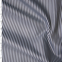 Black and White Vertical Stripe Poly Lining Fabric By The Yard