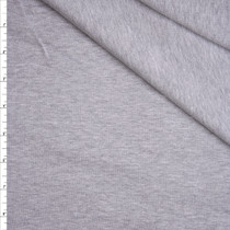 Heather Grey Stretch Cotton Knit Fabric By The Yard