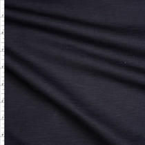 Black Slubbed Midweight Ponte De Roma Fabric By The Yard