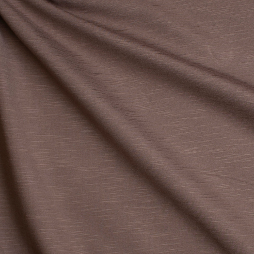 Taupe Slubbed Midweight Ponte De Roma Fabric By The Yard