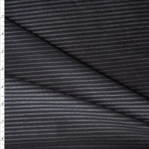 Black and Charcoal Sparkle Gradient Stripe Nylon/Spandex Print Fabric By The Yard
