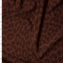 Brown on Brown Leopard Print Nylon/Spandex Print Fabric By The Yard