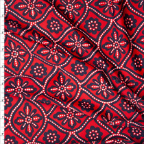 Red, Black, and White Ornate Floral Nylon/Spandex Print Fabric By The Yard