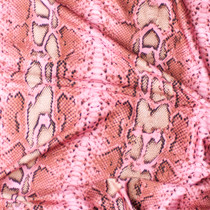 Tan and Pink Snakeskin Print Nylon/Spandex Print Fabric By The Yard