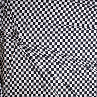 Black and White Checkered Double Brushed Poly Spandex Fabric By The Yard - Wide shot