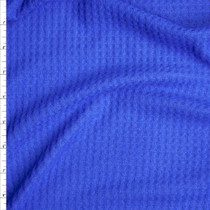 Bright Blue Brushed Soft Rayon Waffle Sweater Knit Fabric By The Yard