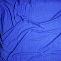 Bright Blue Brushed Soft Rayon Waffle Sweater Knit Fabric By The Yard - Wide shot