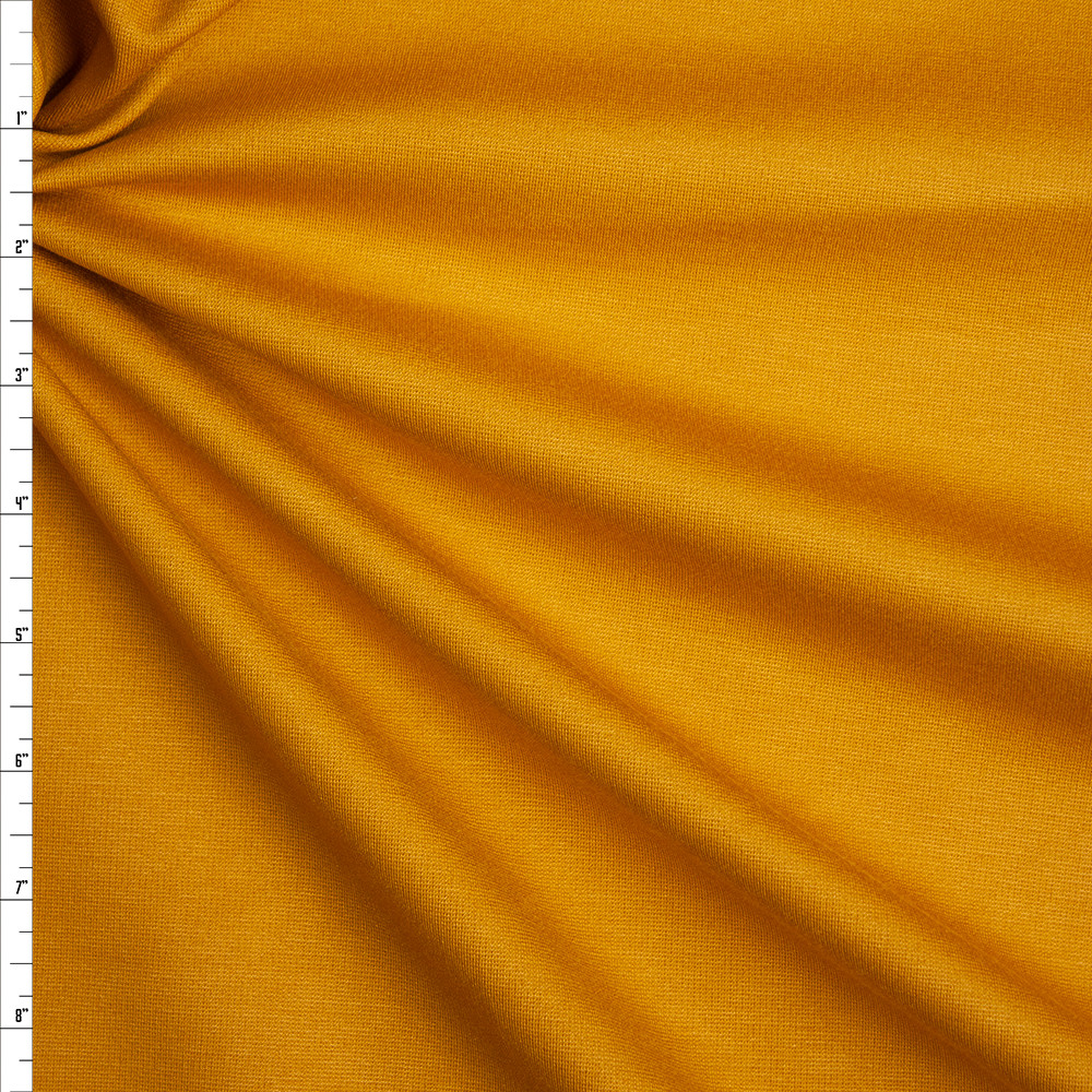 Mustard Heavyweight Stretch Ponte De Roma Fabric By The Yard