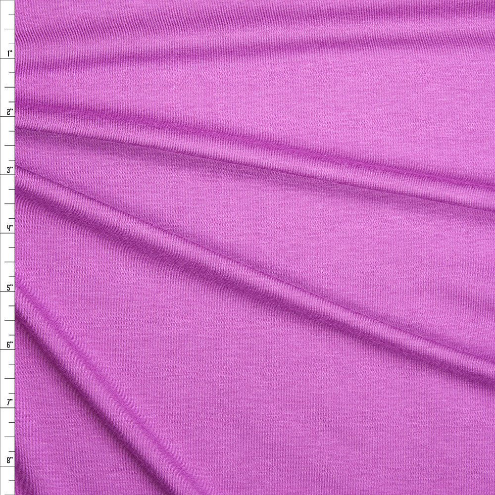 Bright Lilac Organic Cotton/Bamboo Stretch Jersey Knit Fabric By The Yard