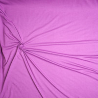 Bright Lilac Organic Cotton/Bamboo Stretch Jersey Knit Fabric By The Yard - Wide shot