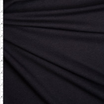 Midweight Black Bamboo/Organic Cotton Stretch French Terry Fabric By The Yard