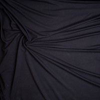Midweight Black Bamboo/Organic Cotton Stretch French Terry Fabric By The Yard - Wide shot