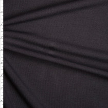 Midweight Black Organic Cotton Stretch French Terry Fabric By The Yard