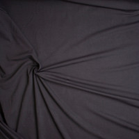 Midweight Black Organic Cotton Stretch French Terry Fabric By The Yard - Wide shot