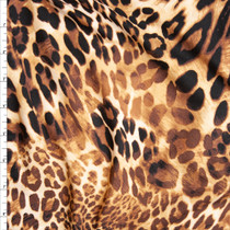 Mixed Leopard Print Double Brushed Poly Spandex Fabric By The Yard