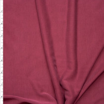 Cranberry Brushed Poly/Modal Jersey Knit Fabric By The Yard