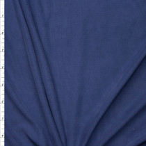 Navy Blue Brushed Poly/Modal Jersey Knit Fabric By The Yard