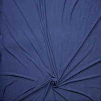Navy Blue Brushed Poly/Modal Jersey Knit Fabric By The Yard - Wide shot